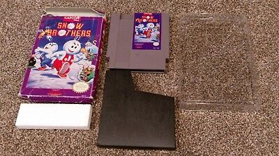 Snow Brothers Nintendo NES Video Game lot w/ Box CLEAN & TESTED AUTHENTIC!