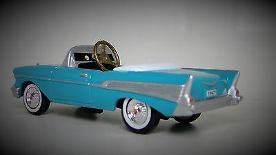 1957 Chevy Pedal Car Vintage Sport Hot Rod Midget Metal Show Model 1955