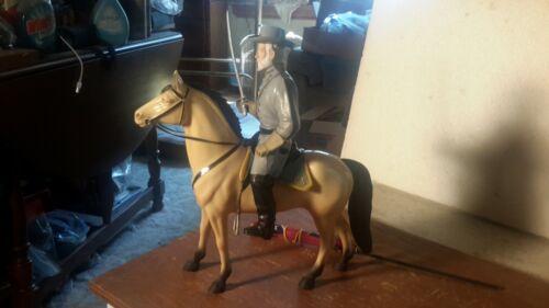 """HARTLAND """"R. E. LEE"""" on Traveler Confederate Figure Western Model"""