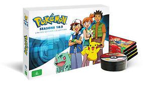 BRAND NEW Pokemon : Season 1-2 Collector's Box (DVD, 12-Disc Set) Go