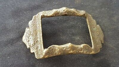 Superb Tudor bronze buckle sympathetically cleaned found in England L129y
