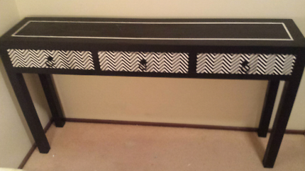 Custom Refinished Hall/Console Table