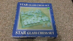 Glass Chess set. Pieces and board are in great condition.