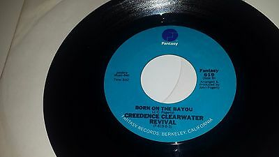 """CREEDENCE CLEARWATER Proud Mary / Born On The Bayou FANTASY 619 45 7"""" VINYL"""