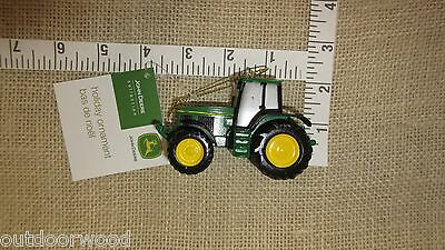 John Deere Green 6930 Cab Tractor Resin Christmas Tree Ornament by Kurt -