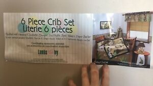 Crib set-Lamb and Ivy, baby cocoa