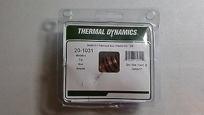 Lot Of 5 - Thermal Dynamics 20-1031 100 Amp Plasma Cutter Tips - 88x395-3