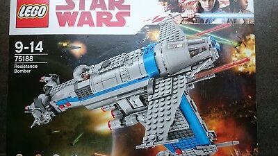 Stars Wars Jedi (LEGO STAR WARS 75188 RESISTANCE BOMBER (OHNE FIGUREN) NEU 750 PCS. THE LAST JEDI)