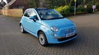 2012 Fiat 500 Lounge 1.2 69bhp * Blue * Panoramic Roof *