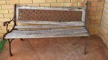 ANTIQUE CAST IRON AND TIMBER BENCH SEAT Victoria Point Redland Area Preview