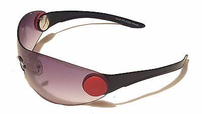 Men Women Sunglasses Plastic Frame Rimless Red Brown Black (Red Plastic Sunglasses)