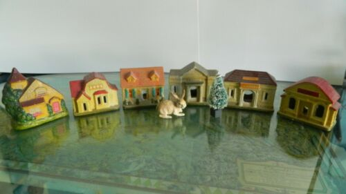 Amazing Made in Japan 6 pc.+ bonus Ceramic Christmas Village, 1940