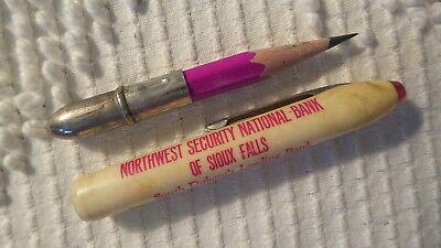 Vintage Adv Bullet Pencil Northwest Security Natl Bank  Sioux Falls  Sd