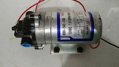 Shurflo Diaphragm Rv Residental Water Pump 8009-543-250 1.8 Gpm 12vdc 7amps