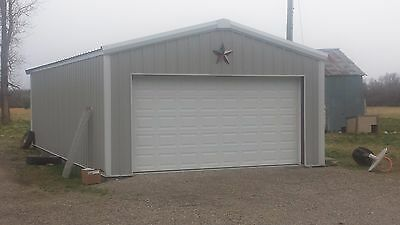 24x30x9 Steel Garageworkshop Building Kit Excel Metal Building Systems Inc