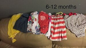 Small 6-12 months girls summer clothing lot