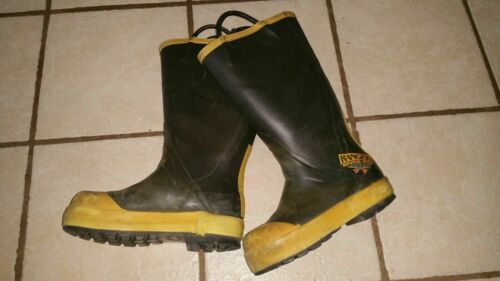 7 (Medium) Ranger Firefighting Protective Steel Toe Rubber Boot Turnout Gear