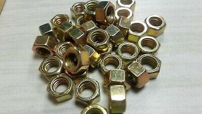 35 Hex Nuts 38 - 16 Coarse Thread Grade 8