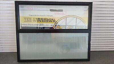 Aluminium Awning Window 1450H x 1795W (Item 5037) Black DOUBLE GLAZED