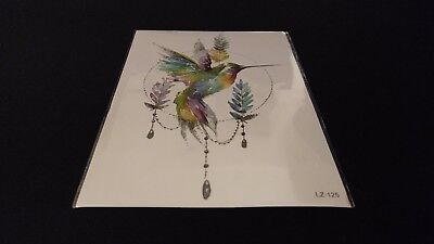 Birds Series Feather Hummingbird Bird TEMPORARY HENNA TATTOO Waterproof Transfer