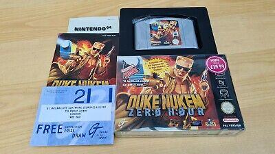 Duke Nukem Zero Hour ~ Nintendo 64 N64 PAL Boxed Complete Collectors