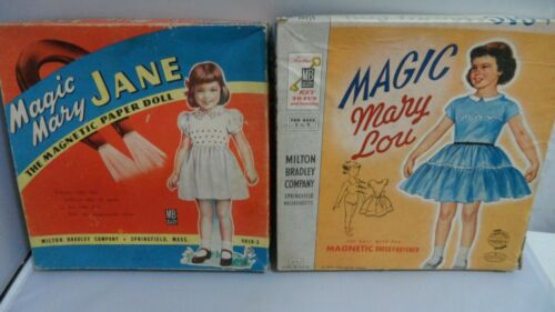 MARY JANE & MARY LOU (YR 1955) MAGNETIC DRESS FASTENER   MILTON BRADLEY   CUT