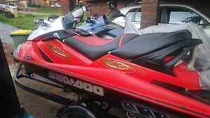 2x seadoo bombadier jetskis on dual trailer Perth Perth City Area Preview