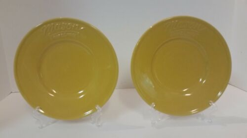 Mason Craft & More Yellow Dessert Salad Plates Set of 2