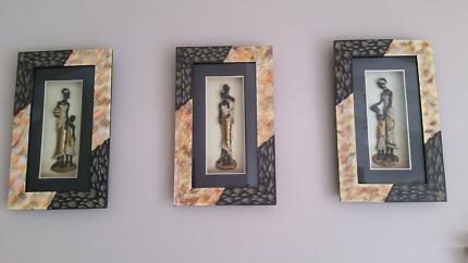 African style picture box frames