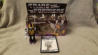 Vintage 1984 Transformers G1 Insecticon Kickback Hasbro with box and booklet