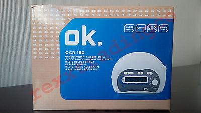 ***NEW*** OK. OCR 150 Dual Alarm Clock Radio with Wake-up Light 220V