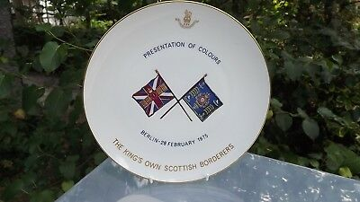 1975 Princess Alice Duchess of Gloucester Plate Presentation of Colours Scottish