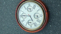 Prestige Hand Made wall clock 5 time zone Wooden