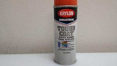 (8)Krylon Tough Coat 1212 Implement Orange Aersol Lot of 8 cans 12 oz. ()