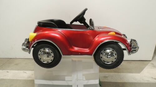 VW Red Beetle Junior Sportster Metal Pedal Car TS-110 Rare Excellent Condition