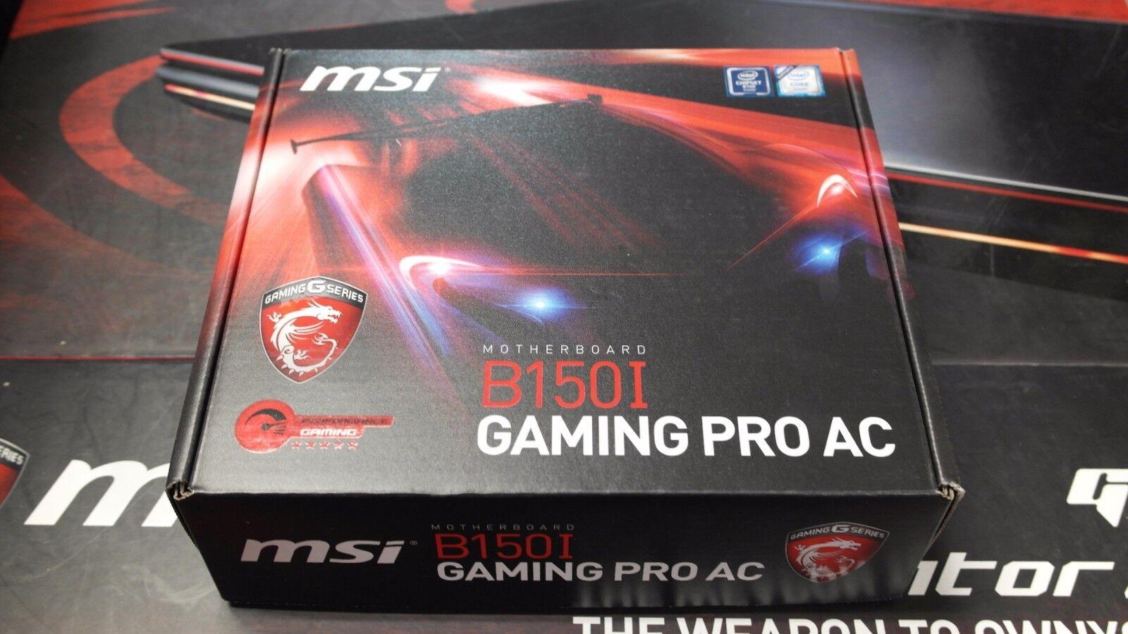MSI Gaming Intel Skylake B150 LGA 1151 DDR4 USB 3 1 Mini ITX