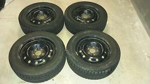 215 60 16 BF Goodrich Winter Tires and Rims MINT!!!!
