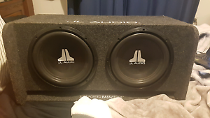 dual jl audio bass wedge subs and alpine monoblock Campbelltown Campbelltown Area Preview
