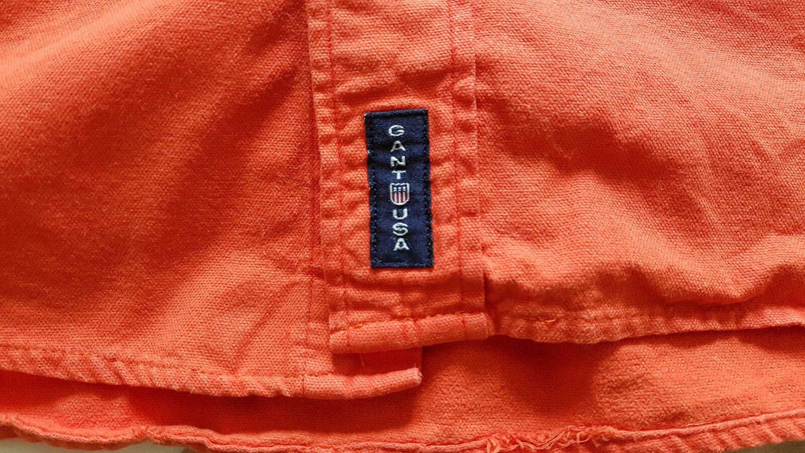 Chemise / surchemise homme 100% coton gant taille m orange (vintage / skate)