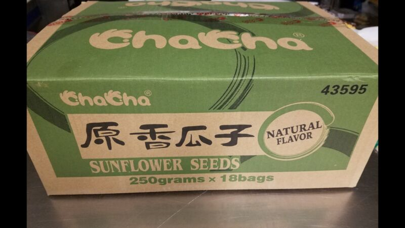 ChaCha Sunflower Seeds Natural Flavor 250g X 18bags $49 Case Price (Cha Cha)