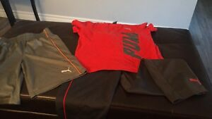 Boys puma out fit and puma shorts (medium)