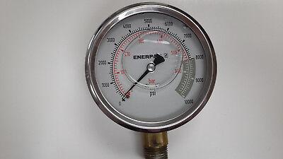 Enerpac Pressure Gauge 0-10000 Psi 0-600 Bar 4in 12in