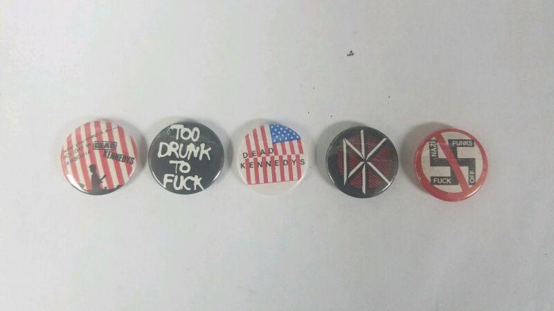 5 Dead Kenedys Button badges Pin backs