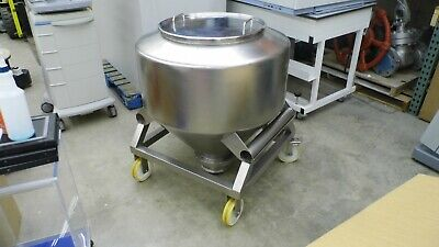 L.b. Bohle Stainless Steel Approximately 300 Liter Powder Container Binhopper