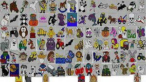 100 x Childrens & Adults Character Jumper Knitting Patterns on Disc Intarsia