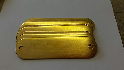 100 Blank Brass Identification tags for Dog Collars
