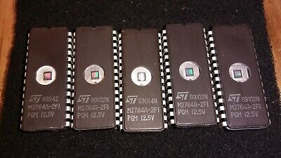 5 St M2764a-2fi Sgs Thomson Uv Erasable Eprom 64k 8k X 8