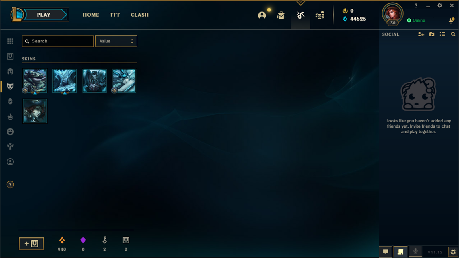 NA Smurf League Of Legends Account LoL Acc Tempest Janna Coin Emperor Tahm Kench - $8.97