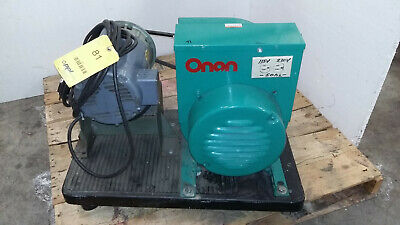 Onan 7.5kva Generator 1 Ph 115220v Recepticles Belt-driven Baldor L1406t Motor