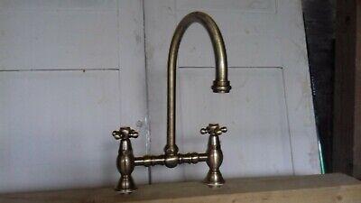 Traditional Victorian Kitchen Sink Mixer Monobloc Tap Brass Bronze Bridge Monobloc Kitchen Taps